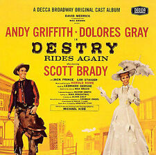 DESTRY RIDES AGAIN ANDY GRIFFITH DOLORES GRAY Decca BROADWAY CAST RECORDING CD