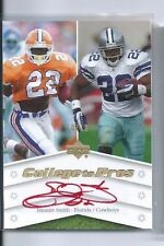 2007 Upper Deck Football Emmitt Smith  RED Autograph 10/10 (College to Pros)