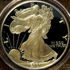 2001 W PROOF SILVER EAGLE, PCGS PF 69 DCAM