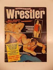 VINTAGE THE WRESTLER MAGAZINE OCT 1972 ISSUE GEORGE THE ANIMAL STEELE DYKES WWF