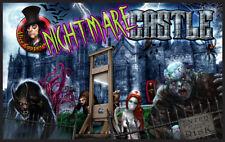 Alice Coopers Nightmare Castle Pinball Alternate Translite