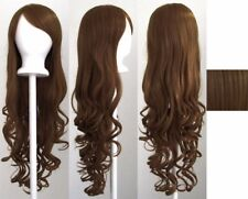 Brown 80cm Women Long Curly Wavy Hair Wig Fashion Costume Party Anime Cosplay