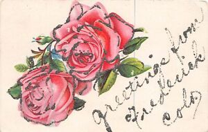 H72/ Frederick Colorado Postcard c1910 Glitter Greetings from Frederick  128