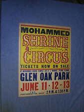 Original 1953 COLORCRAFT Mohammed Shrine Circus Peoria ILLINOIS
