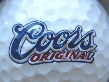 (1) Coors Original Beer Alcohol Logo Golf Ball