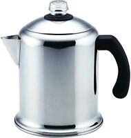 50124 Classic Yosemite Stainless Steel Coffee Percolator - 8 Cup, Silver