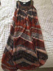 QUEENS PARK DRESS Size 12 Long Rustic Colours Women's