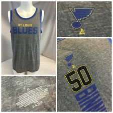 St. Louis Blues Jordan Bennington Fanatics Tank Top XL Gray Cotton YGI I9-220