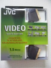 Gold plated 21 pin JVC scart to scart cable