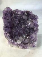 """8"""" Amethyst Cathedral Geode Crystal Quartz Natural Cluster Specimen Brazil"""