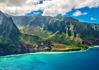 Beautiful Hawaii Island Poster Size A4 / A3 Sea Beach Nature Poster Gift #13020
