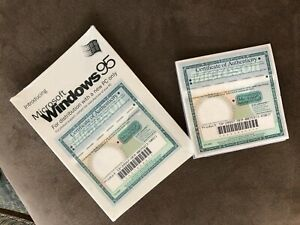 Microsoft Windows 95 CD with 2 Certificate of Authenticity