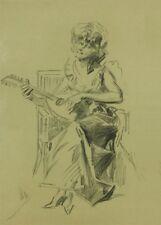JULES CHERET Joueuse de mandoline, Art Nouveau Belle Epoque Poster