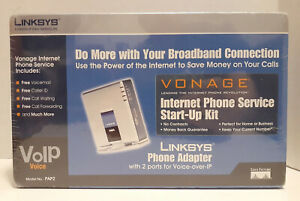 Linksys Phone Adapter Vonage with 2 Port Voice Over IP VOIP PAP2 - New / Sealed!