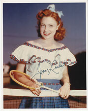 JOAN LESLIE (1925-2015) signed photograph photo autographed ] Tennis racquet