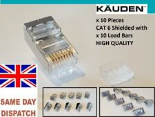 10x CAT6 RJ45 Network Connector Modular Plugs Shielded Version With Loading Bar