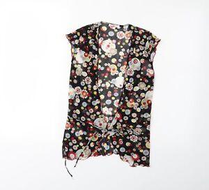 Kookai Womens Black Floral  Basic Blouse Size S