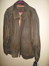 NEW Mack Trucks 3XL Jacket Coat Lamb skin Leather Brown with nylon lining