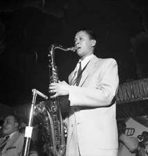 OLD JAZZ MUSIC PHOTO Count Basie Tenor Saxophone Player Frank Foster Performs