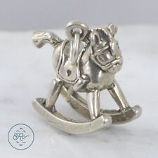 Sterling Silver | 3D Rocking Horse 4.9g | Charm Pendant MX5553