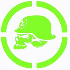 """METAL MULISHA IN SPECKLED CIRCLE CAR DECAL STICKER, LIME GREEN, 11.7"""" x 11.7"""""""