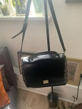 Kate Spade Black Handbag Satchel Animal Print Spots Medium