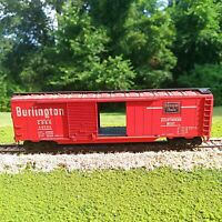 Chicago Burlington and Quincy 50' Double Door Box Car Athearn HO Scale Red