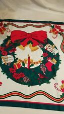 PEACE ON EARTH CHRISTMAS WREATH 100% POLYESTER SCARF MADE IN ITALY #4