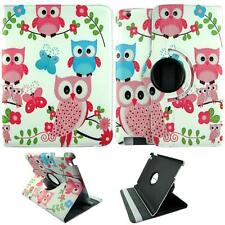 For Apple Ipad 2 / 3 / 4 Tablet Pink Blue Owl Butterfly Pu Leather Case Cover