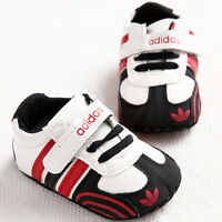 Black Infant Baby Shoes Girl Soft Sole Sneaker Crib Shoes For 3-18month