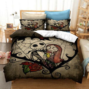 The nightmare before Christmas Pillowcase Covers Quilt Single Double King Queen