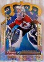 PATRICK ROY 1999-00 Crown Royale GOLD CROWN DIE CUTS JUMBO (174/960) avalanche