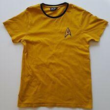 Star Trek Gold Captain Kirk Large Commander Uniform top.FREE Shipping in UK.