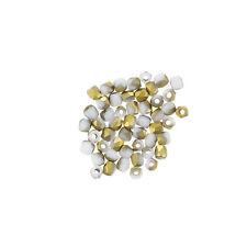 Feu poli véritable 2 ™ czech glass seed beads blanc craie amber matte PK50 (L67/7)