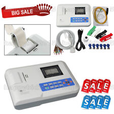 FDA Digital 1 Channel 12 Lead ECG EKG Machine Electrocardiograph,Printer