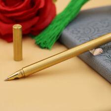 Pure Brass Ball Retro Pens Handmade EDC Japan Style Pen Refillable Gel Pen