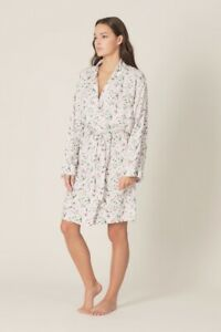 Marie Jo Dahlia Robe/Dressing Gown Size Large Cream/floral Print £69 (RRP £83)