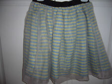 Polyester A-Line Machine Washable Striped Skirts for Women
