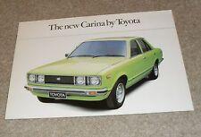 Toyota Carina Brochure 1978 - Saloon & Estate