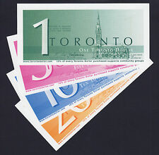 Canada 2008 Local Currency $1, 5, 10, 20 TORONTO Dollars UNC