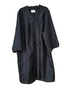 Jostens Graduation Gown Black Zipper Front