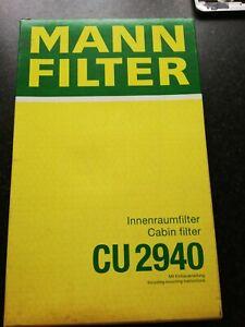 Mann Filter  CU 2940 Hummel  Cabin Air Filter