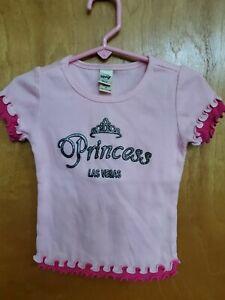 "Girl's size 4 Kavio ""Princess "" Las Vegas short sleeve ribbed shirt"