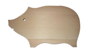 Chopping board shape of pig kitchen cutting stylish unique great gift 30 x 18 cm