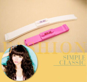2pcs Hair Bangs Trimming Clippers NO Scissor Front Fringe DIY At Home Salon Tool