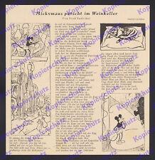 Rubey Endrikat Micky Maus Weinkeller Comic Trickfilm Gedicht Figur Zeichner 1935