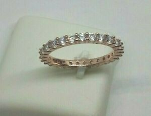 Silberring 925 Silber vergoldet - Memoire Ring mit CZ, Gr. 52