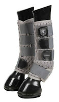 LeMieux GLADIATOR MESH FLY BOOTS Protective Flies Close Contact CHAPS Grey XS-XL
