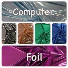 Computer Foil 112cm Wide Fabric-Metallic-Costumes-Dance-Shine
