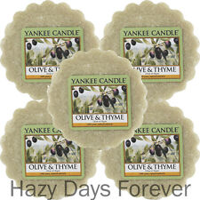 5 Yankee Candle Wax Tarts Melts Olive and Thyme Buy 2 Save 20